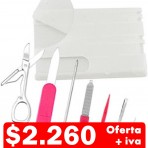 Set manicure tarjeta