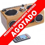 Radio Cuadrada de Bamboo